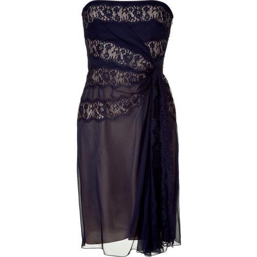 Alberta Ferretti Night Blue/Nude Strapless Dress