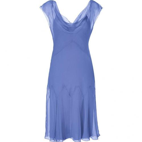 Alberta Ferretti Powder Violet Silk Godet Dress