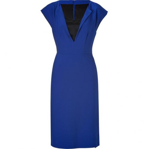 Alberta Ferretti Royal Blue/Black Wool/Satin Dress