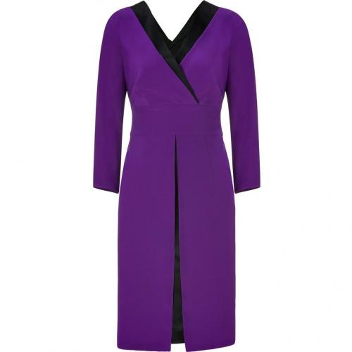 Alberta Ferretti Violet/Black Silk Dress