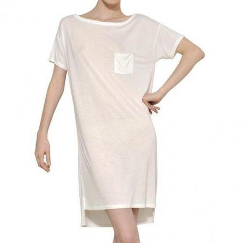 Alexander Wang Kleid Aus Kunstseidenjersey Weiß