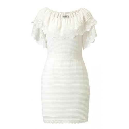 Alice by Temperley Mini Esmeralda Dress Ecru