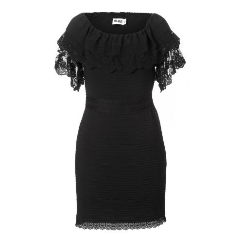 Alice by Temperley Mini Esmeralda Dress Schwarz