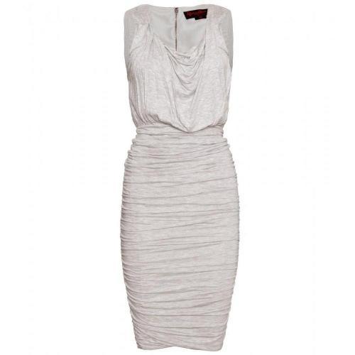 Alice + Olivia Drapiertes Jerseykleid Weiß