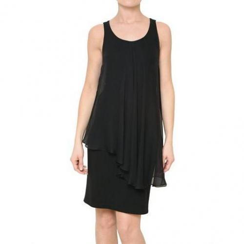 Alice+Olivia Drappiertes Chiffon Crepe Jersey Kleid