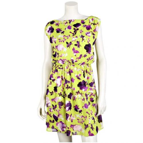 Alice+Olivia Tailliertes Kleid Gelb