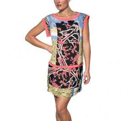 Antonio Marras Bedrucktes Techno Seiden Krepp De Chine Kleid