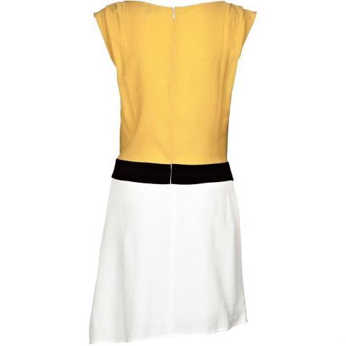 Axara Sommerkleid jaune Gelb Weiß