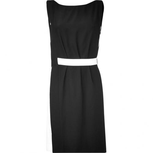 Azzaro Black and White Sheath Dress