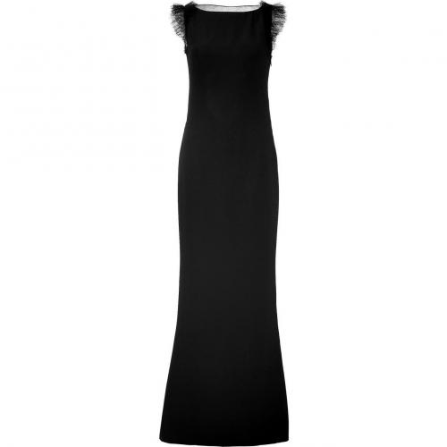 Azzaro Black Gown with Net Trim Back