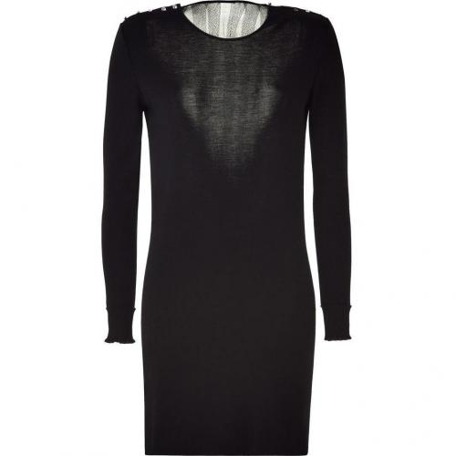Azzaro Black Knitted Myrica Dress with Ressille Back