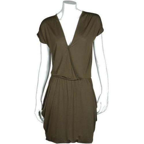 Bzr Jersey-Kleid oliv