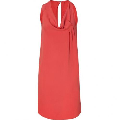 Cacharel Tangarine Draped Silk Kleid