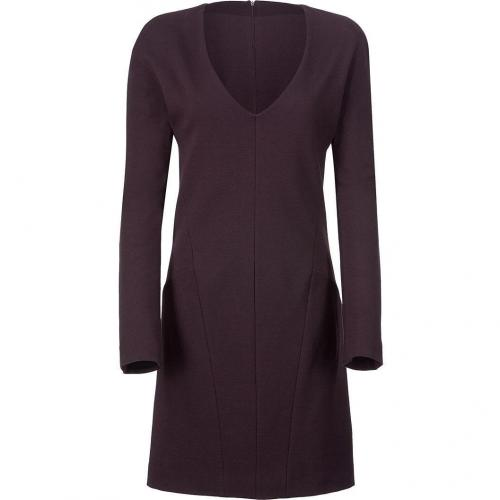 Calvin Klein Collection Bordeaux V-Neck Shift Kleid