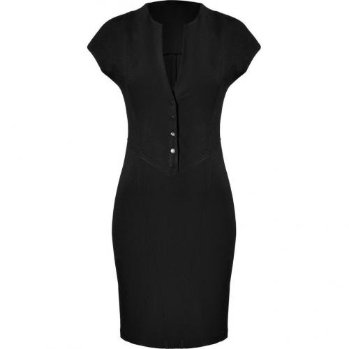 Catherine Malandrino Black Ponte Cap Sleeve Dress
