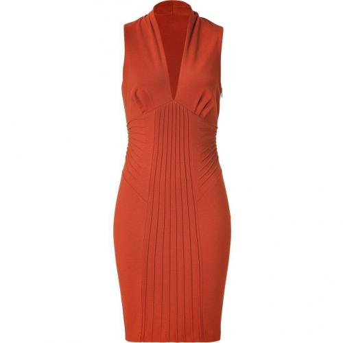 Catherine Malandrino Copper Pintucked Dress