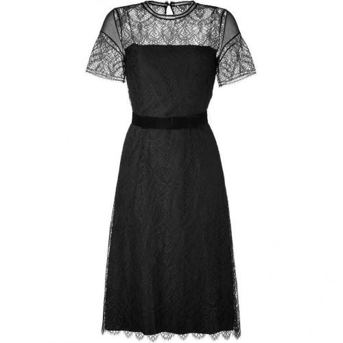 Collette Dinnigan Black Fern Lace Dress