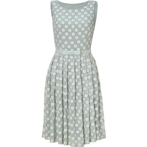 Collette Dinnigan Peppermint Embroidered Silk Daisy Dress