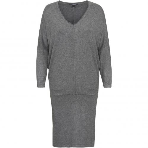 comma Strickkleid grau