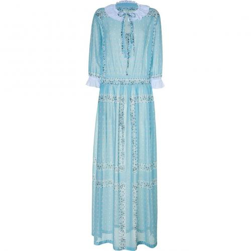D&G Dolce & Gabbana Azure maxi Kleid with side slits