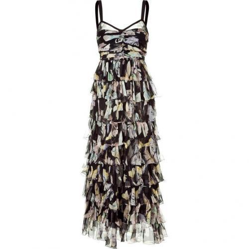 D&G Dolce & Gabbana Multicolor Floral Maxi Kleid