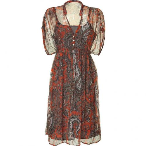 Day Birger et Mikkelsen Aboriginal Orange Paisley Print Dress Ashley