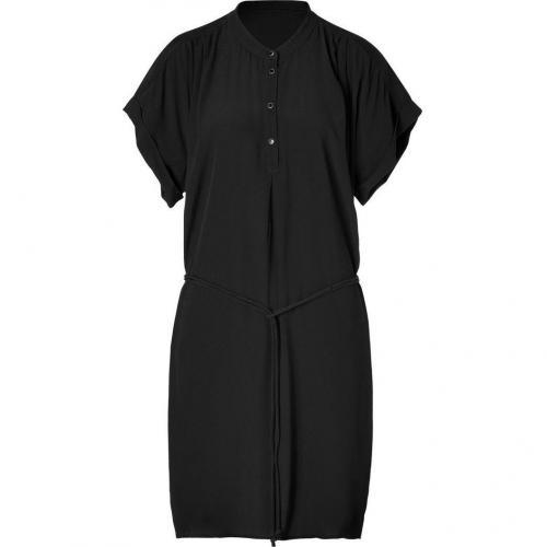 Day Birger et Mikkelsen Black Crepe Belted Dress