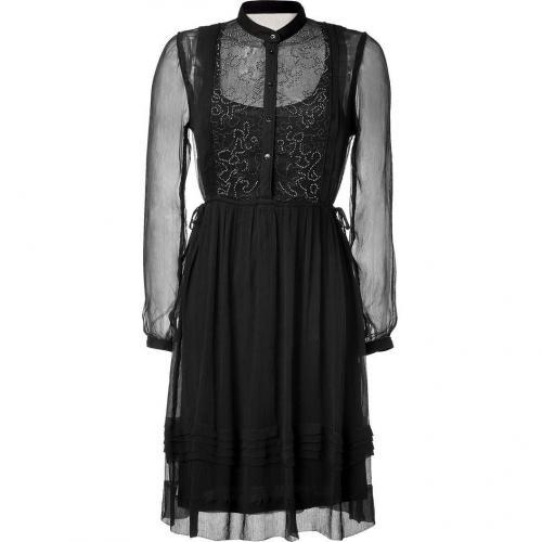 Day Birger et Mikkelsen The Iris Black Bead-Embellished Dress