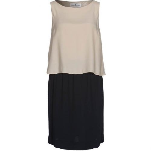 Designers Remix Collection Sablesdress Sommerkleid beige/schwarz