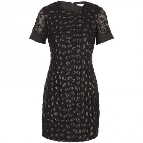 Diane von Furstenberg Kleid mit Stickereien Schwarz