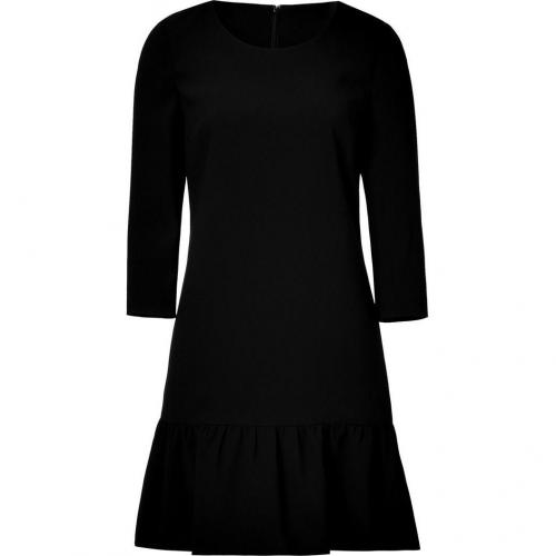 DKNY Black Crepe Kleid with Ruffled Trim