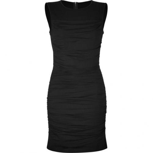 DKNY Black Ruched Kleid