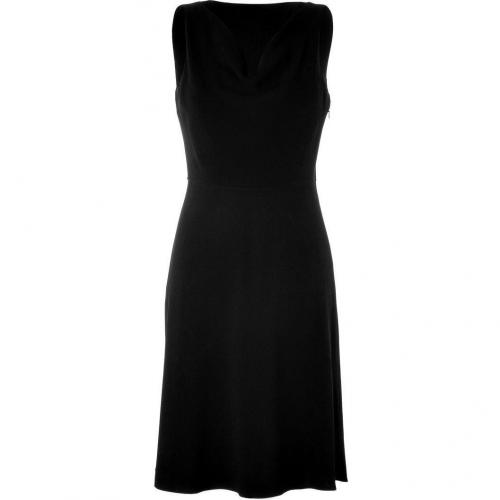 DKNY Black Sleeveless Cowl Neck Kleid