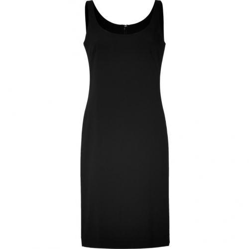DKNY Black Sleeveless Scoopneck Kleid