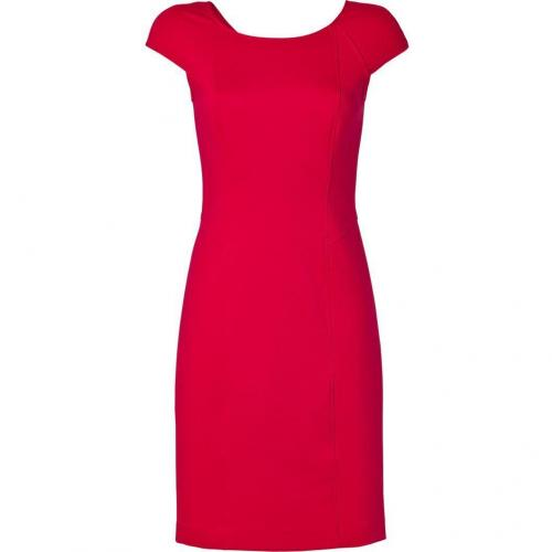 DKNY Crimson Red Cap Sleeve Sheath Kleid