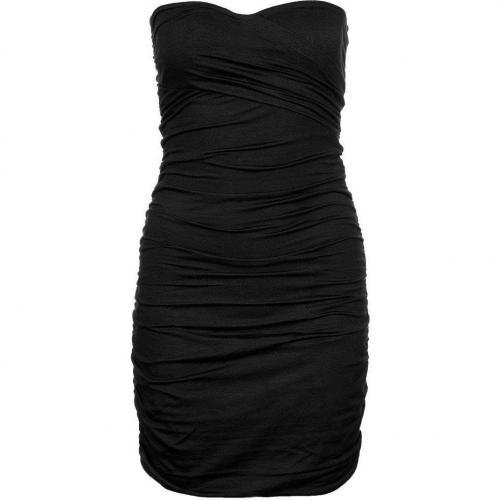 Dkny Jerseykleid black Schulterfrei Trägerlos