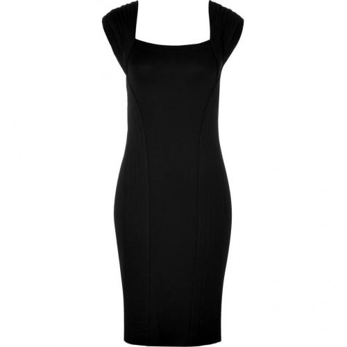 Donna Karan Black Cap Sleeve Kleid