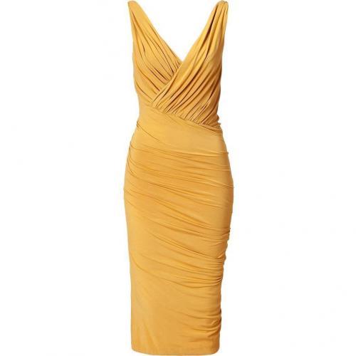 Donna Karan Butterscott Twist Draped Kleid