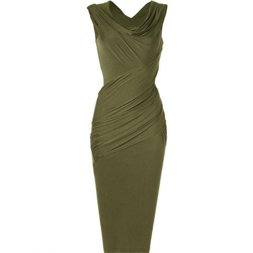 Donna Karan Majolica Cap-Sleeve Twist Kleid