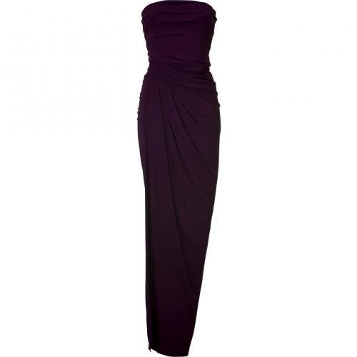 Donna Karan Wild Iris Floor Lenght Strapless Kleid
