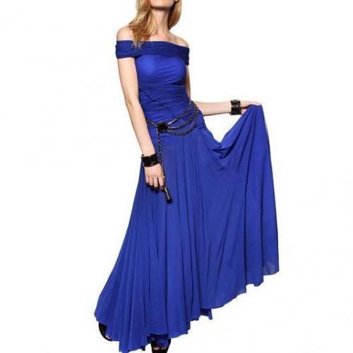 Dsquared Gesammeltes Tüll & Lycra Jersey Kleid