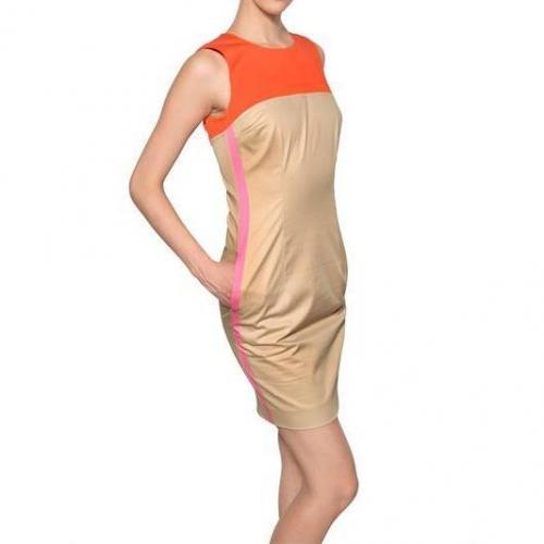 Dsquared Multicolor Baumwoll Poplin Kleid