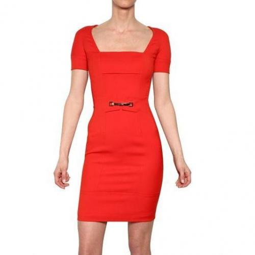 Dsquared Stretch Cady Kleid Rot
