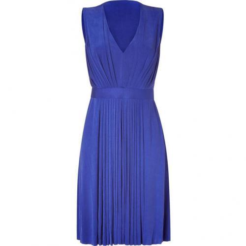Emanuel Ungaro Royal Blue Pleated Kleid