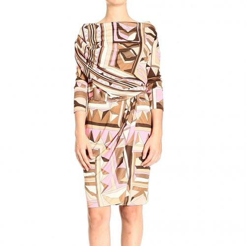 Emilio Pucci 3/4 sleeve jersey cnosso dress