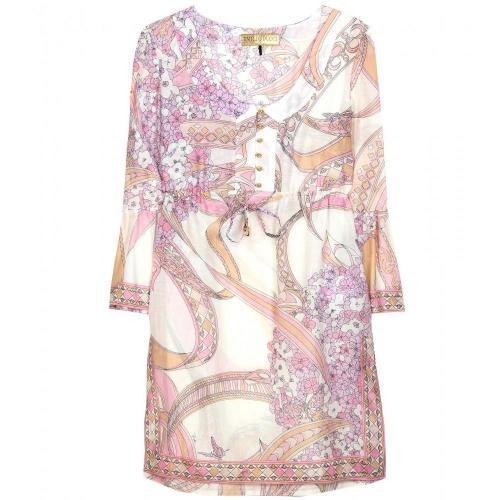 Emilio Pucci Beach Tunika-Kleid Mit Print Beige