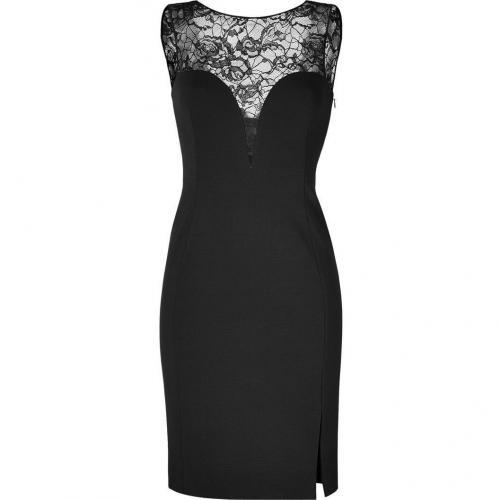 Emilio Pucci Black Lace and Jersey Combo Dress
