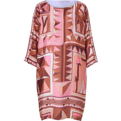 Emilio Pucci Rose/Caramel Printed Silk Dress