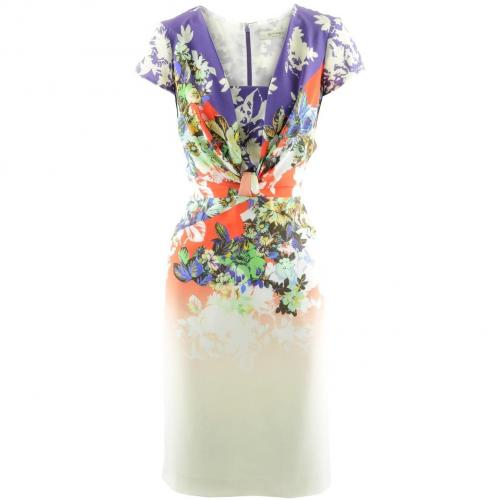 Etro Coral Multi Print Dress