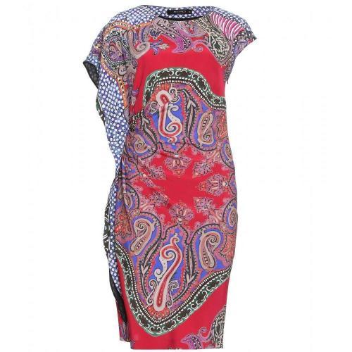 Etro Kleid Mit Paisley-Print Red